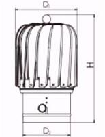 Windgedreven dakventilator Cowl Oblong 150 mm RVS inclusief plakplaat - 325m3/h-2
