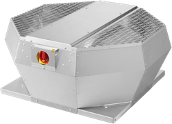 Ruck dakventilator verticaal met EC motor en werkschakelaar 1200m³/h - DVA 250 ECP 30