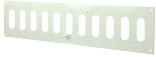 Metalen instelbaar rechthoekige sleuf rooster 400x100 wit - MR4010R