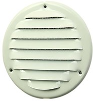Metalen ventilatierooster rond Ø 100mm wit - MR100-1