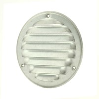 Metalen ventilatierooster rond Ø 100mm zink - MR100ZN-1