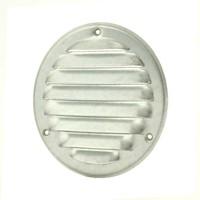 Metalen ventilatierooster rond Ø 125mm zink - MR125ZN-1