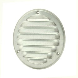 Metalen ventilatierooster rond Ø 125mm zink - MR125ZN