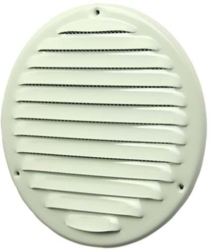 Metalen ventilatierooster rond Ø 160mm wit - MR160