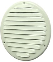Metalen ventilatierooster rond Ø 200mm wit - MR200-1