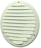 Metalen ventilatierooster rond Ø 200mm wit - MR200