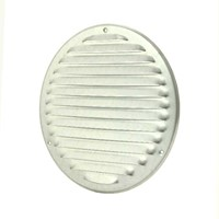 Metalen ventilatierooster rond Ø 200mm zink - MR200ZN-1