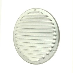 Metalen ventilatierooster rond Ø 200mm zink - MR200ZN