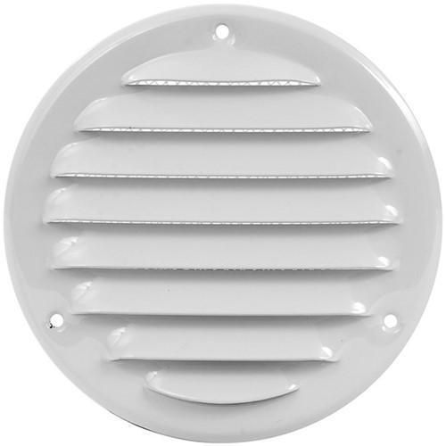 Metalen ventilatierooster rond Ø 125mm wit - MR125