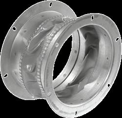 Ruck flexibele dakaansluiting, gegalvaniseerd plaatstaal diameter 183 mm - DAS 180