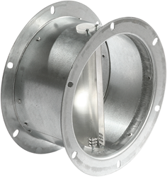 Ruck flexibele dakafsluitklep, gegalvaniseerd plaatstaal diameter 183 mm - DVK 180