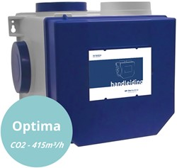 Itho Daalderop Optima CVE CO2 pakket HE 415m3/h incl. bedieningen RFT CO2 opbouw sensor + RFT auto - euro stekker