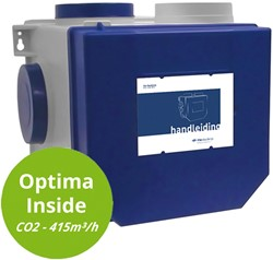 Itho Daalderop Optima Inside CVE CO2 pakket HE 415m3/h met inbouw CO2 sensor + RFT auto - perilex stekker