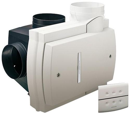 Orcon Compact 10RHB 360m3/h  + vochtsensor + RFT bediening - randaarde stekker