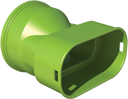 Ubbink adaptor DBOX naar plat ovaal 50x100