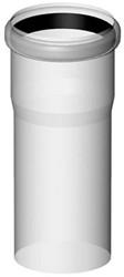 Luchttoevoer buis 100 mm L= 500mm kunststof PP (transparant)