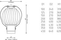 Windgedreven ventilator Penn 350mm metaal - 346m3/h-2