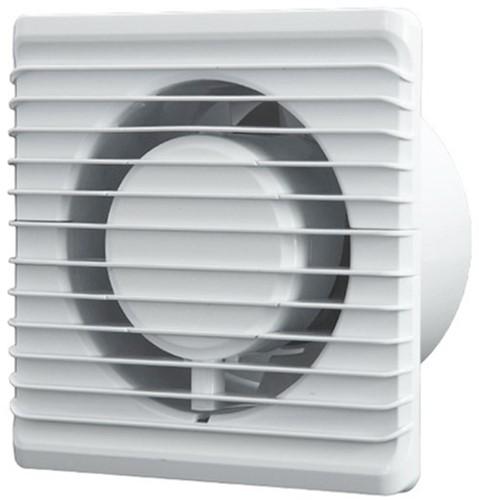 Badkamer ventilator Energiezuinig en Stil met Stekker en Schakelaar diameter 100 mm wit - 100PS