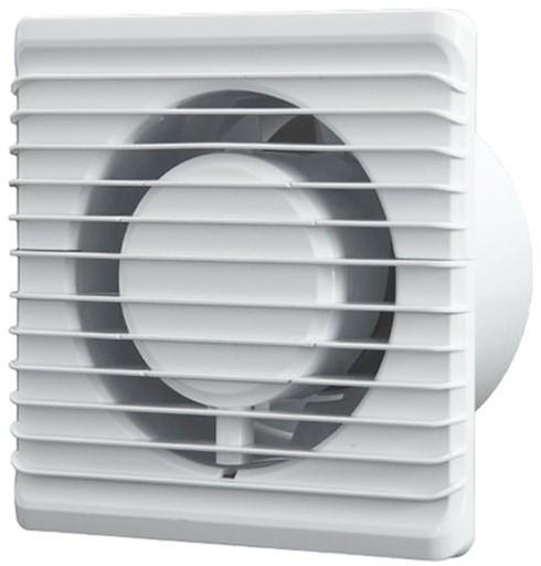 Badkamer ventilator Energiezuinig en Stil diameter 125 mm wit ...