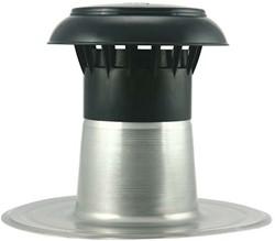 Platdak ontluchting met kunststof kap Ø90-110mm