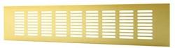 Plintrooster aluminium - goud L=400mm x H=60mm -RA640G
