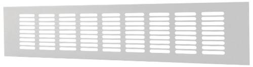 Plintrooster aluminium - wit L=400mm x H=120mm - RA1240