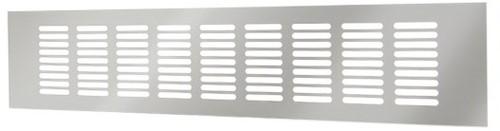 Plintrooster aluminium - zilver L=500mm x H=100mm - RA1050S
