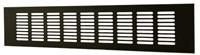 Plintrooster aluminium - zwart L=1600mm x H=120mm - RA12160B-1