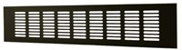 Plintrooster aluminium - zwart L=300mm x H=40mm -RA430B-1