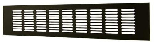 Plintrooster aluminium - zwart L=400mm x H=40mm - RA440B