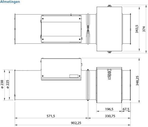 PureBlue induct unit PB600I Ionisatie ventilator (wtw)-3