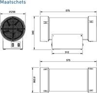 PureBlue stand alone 250S Ionisatie ventilator-2