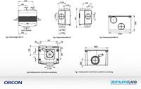 Orcon alles-in-een pakket randaarde stekker MVS 15R 520m3/h + rft bediening + 4 ventielen-4