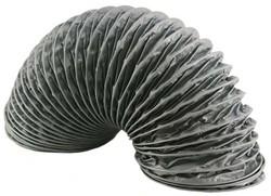 Polyester ventilatieslang Ø 125 mm grijs (6 meter)