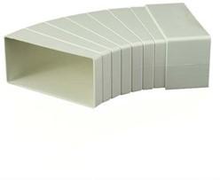 Rechthoekige kunststof horizontale 15-60° bocht 204x60 mm (26-45H)