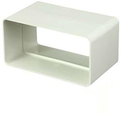 Rechthoekig kunststof koppelstuk 220x55 mm - KS25