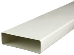 Rechthoekig kunststof ventilatiekanaal 110x55 lengte= 1 meter - K-1