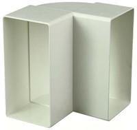 Rechthoekig kunststof verticale 90 ° bocht 110x55 - KLV-1