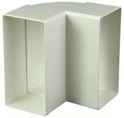 Rechthoekig kunststof verticale 90 ° bocht 110x55 - KLV
