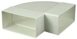 Rechthoekige kunststof horizontale 90° bocht 220X55mm - KLH25-90