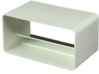 Rechthoekige kunststof terugslagklep 110x55 - KV-1