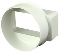 Rechthoekige kunststof verloop Ø100mm - 110x55 - KSD1-1