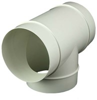 Rond kunststof T-stuk diameter: 125 mm - AT125-1