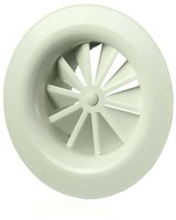 Rond wervelrooster plafond 100 mm metaal-1