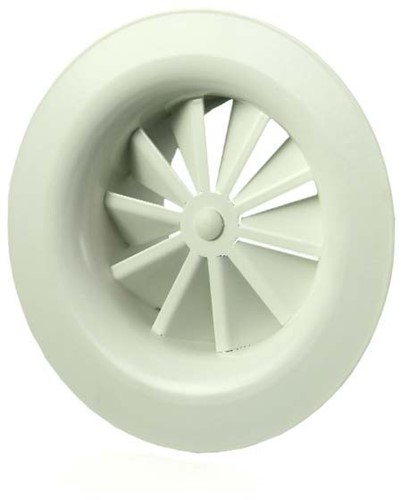 Rond wervelrooster plafond 125 mm metaal