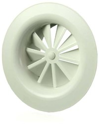 Rond wervelrooster plafond 80 mm metaal