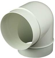 Ronde kunststof 90 ° bocht diameter: 125 mm AL125-90-1