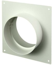 Ronde kunststof muurplaat diameter: 100mm AFS100