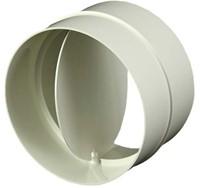 Ronde kunststof terugslagklep diameter: 100mm - AV100-1