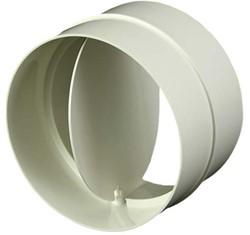 Ronde kunststof terugslagklep diameter: 125mm AV125